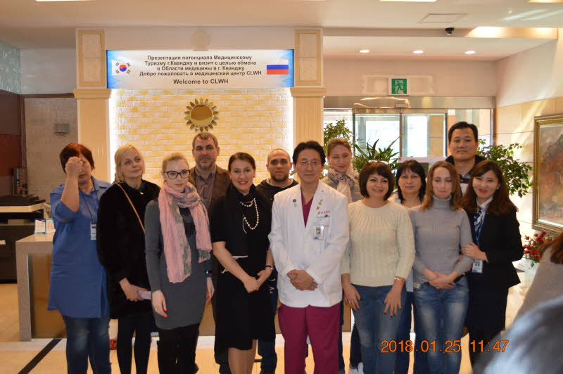 Russia Medical tour delegation visited CL hospital Attachments : 1563169096.jpg